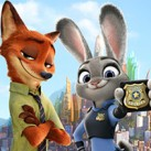 Judy and Nick searching for clues
